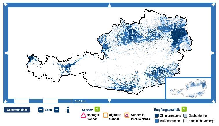DVB-T Karte Österreich