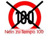 Tempo 100 Protestkation vom ARBÖ ÖAMTC