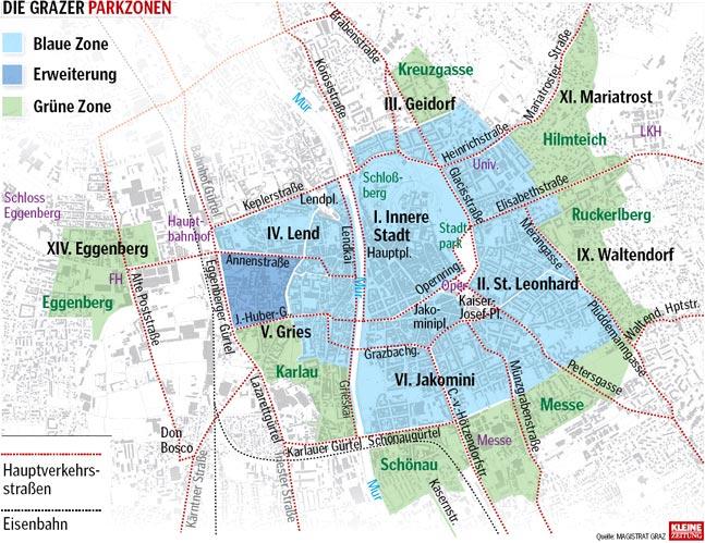 Gürne Zonen in Graz – die neuerste Abzocke
