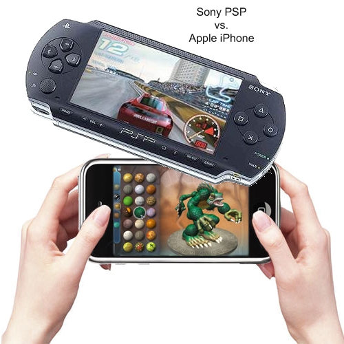 Sony PSP Apple iPhone