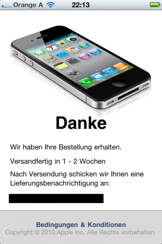 iPhone 4 Case Program App Bestellung