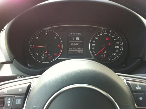Audi A1 Instrumententafel