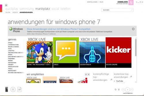 Microsoft Zune Marktplatz