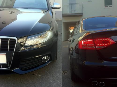 Audi A4 B8 LED vorne und hinten