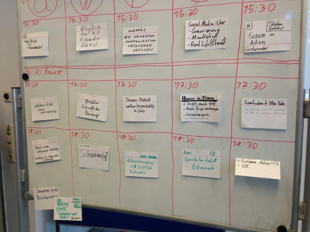 BarCamp Graz 2014 - Sessionplanung