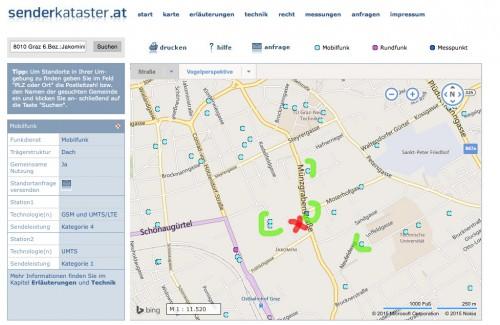 LTE_Test_Senderkataster_Graz_LTE_Funkmasten