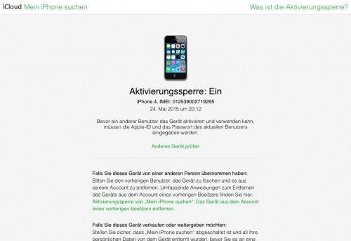 icloud_Sperre_Apple_Status