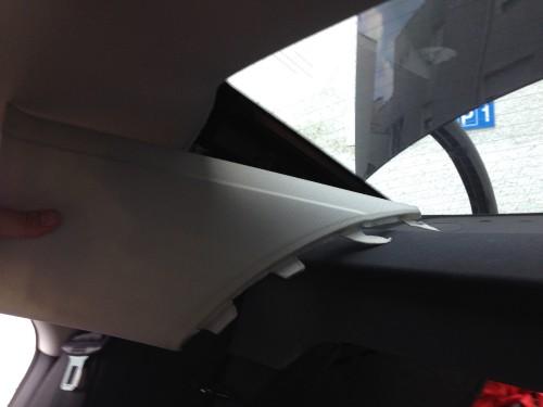 Audi A4 B8 8K Hutablage ausbauen_Seitenteil_ausbauen