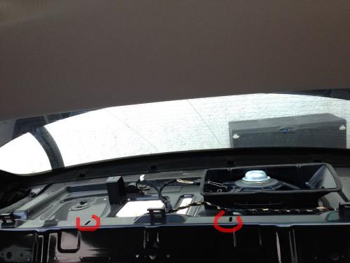 Audi A4 B8 8K Hutablage entfernt3