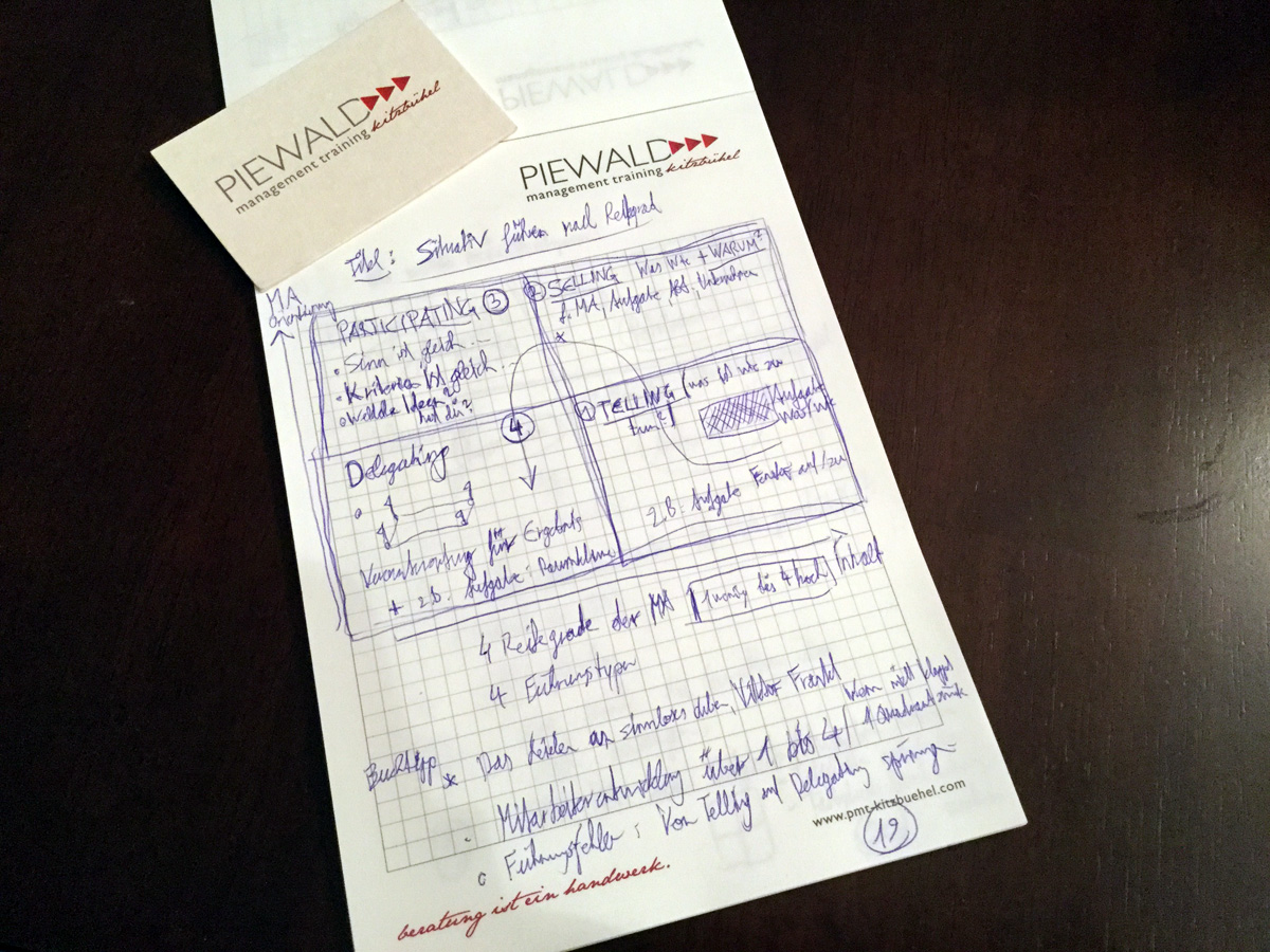 """Review Andreas Piewald Donau Uni Summer School """"Von der Manageritis zum Leadership"""""""