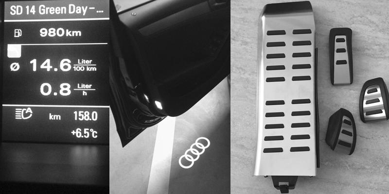 Audi A4 8K B8 Erweiterungen – Bericht 10 – Fernlichtassistent nachrüsten, Audi LED Ringe als Türbeleuchtung und Sportpedalkappen